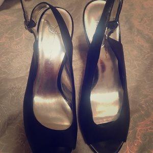 Jessica Simpson wooden heels